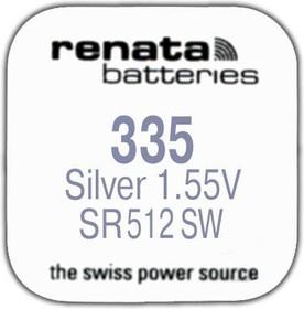 R 335 (SR 512 SW, 1.55V, 5mAh, 5.8x1.2mm)(батарейка для часов)