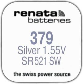 R 379 (SR 521 SW, 1.55V, 16mAh, 5.8x2.1mm)(батарейка для часов)