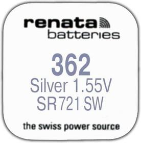 R 362 (SR 721 SW, 1.55V, 24mAh, 7.9x2.1mm)(батарейка для часов)