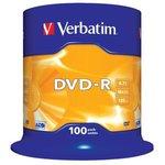 Verbatim 43549 DVD-R 4.7 GB 16x CB/100, Записываемый ...