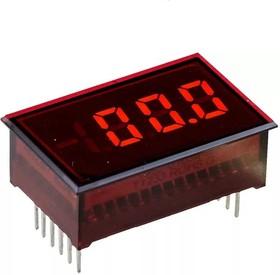 Фото 1/2 DMS-20PC-0-RL-C, Вольтметр цифровой, измерительная головка до 200мВ, приглушенный красный