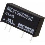 MEV1S0505SC, DC/DC преобразователь, 1 Вт, вход 4.5-5.5В, выход 5в/200мА, SIP