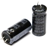 ECAP (К50-35), 47 мкФ, 200 В, 105°C, 12.5x25, B43828A2476M001, Конденсатор электролитический алюминиевый
