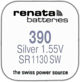 Фото 1/2 R 390 (SR 1130 SW, 1.55V, 80mAh, 11.6x3.1mm)(батарейка для часов)
