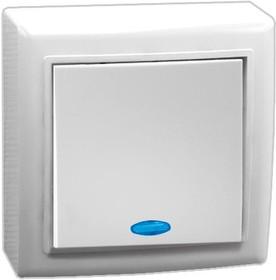 V01-31-V12-S (Выключатель 1-кл. с инд. (бел), Solar)