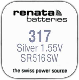 Фото 1/2 R 317 (SR 516 SW, 1.55V, 10mAh, 5.8x1.6mm)(батарейка для часов)