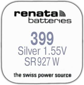 Фото 1/2 R 399 (SR 927 W, 1.55V, 57mAh, 9.5x2.6mm)(батарейка для часов)