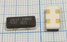 кварцевый резонатор 3.6864МГц в корпусе SMD 12x 5.5мм,с нагрузкой 10пФ, 3686,4 \SMD12055C4\12\ 30\150/-40~125C\ NX1255GA\1Г