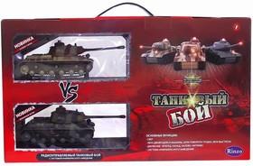 Танковый бой радиоуправляемый, 2 танка 1:64, с аккумулятором, со светом и звуком, 47,5х9,8х26,5 см (С-00037)