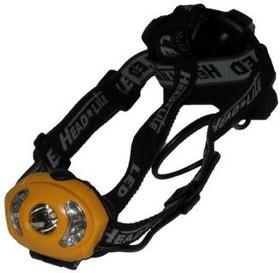 LED5319-8F5, Фонарь налобный 0.5W LED+7LED, 5 режимов, 3хLR03, желтый