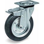 Колесо Tellure Rota 053345 поворотное с тормозом, диаметр 200мм ...