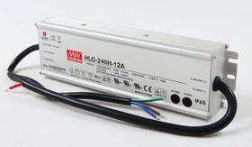 HLG-240H-12A, AC/DC LED, 12В,16А,192Вт,IP65 блок питания для светодиодного освещения