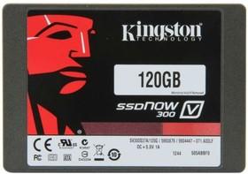 """Фото 1/2 Накопитель SSD KINGSTON V300 SV300S3D7/120G 120Гб, 2.5"""", SATA III"""