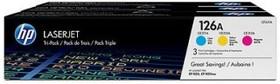 Набор картриджей HP 126A голубой / пурпурный / желтый [cf341a]