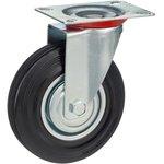 Колесо поворотное Стелла-техник 4001-125 диаметр 125мм, грузоподъемность 100кг, резина, металл