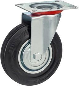 Фото 1/5 Колесо поворотное Стелла-техник 4001-125 диаметр 125мм, грузоподъемность 100кг, резина, металл