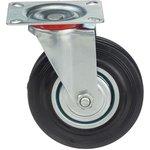Фото 2/5 Колесо поворотное Стелла-техник 4001-125 диаметр 125мм, грузоподъемность 100кг, резина, металл