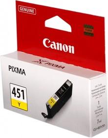 Картридж CANON CLI-451Y 6526B001, желтый