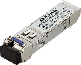 DEM-302S-BXU, 1-port mini-GBIC 1000Base-BX SMF WDM (Bi-Directional) (up to 2km, single mode) Transmitting and Rece