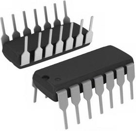 К555ЛН2 (IN74LS05N) (90-07г), 6 инверторов с открытым коллекторным выходом