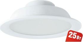 Фото 1/4 NDL-P1-25W-840-WH-LED (94838), Светильник светодиодный встраиваемый, 25Вт, белый