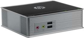 Нулевой клиент HP t310, TERA2321, DDR3 512Мб, 256Мб(SSD), без ODD, noOS, черный и серебристый [c3g80aa]
