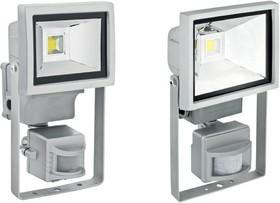 Фото 1/2 601-302, Прожектор уличный LED, Cold White, 10W, AC85-220V/50-60Hz, IP65, с датчиком движения