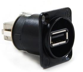 Фото 1/3 NA-USB-B(W), Переходник А-В на панель