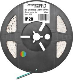 Фото 1/3 NLS-5050RGB30- 7.2-IP20-12V-Pro (71444), Лента светодиодная 5050 (30шт/метр), 7.2 Вт/м,12В,RGB, IP20 (1м)