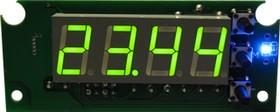 Фото 1/2 STH0024UG-v3, Цифровой встраиваемый термостат с выносным датчиком, зеленый индикатор, версия 3.0