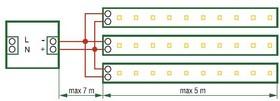 Фото 1/2 NLS-5050RGB60-14. 4-IP20-12V-Pro (71446), Лента светодиодная 5050 (60шт/метр),14.4Вт/м, 12В,RGB, IP20 (1м)