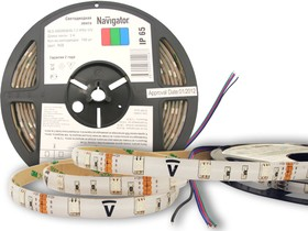 Фото 1/2 NLS-5050RGB30- 7.2-IP65-12V (71428), Лента светодиодная 5050 (30шт/метр), 7.2 Вт/м,12В,RGB, IP65 (1м)