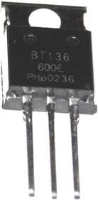 Фото 1/6 BT136-600E,127, Симистор 4А 600В 10мА [TO-220AB / SOT-78]
