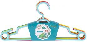 Фото 1/2 92930, Вешалка пластиковая для легкой одежды 38 см, цветная, 5 шт в комплекте