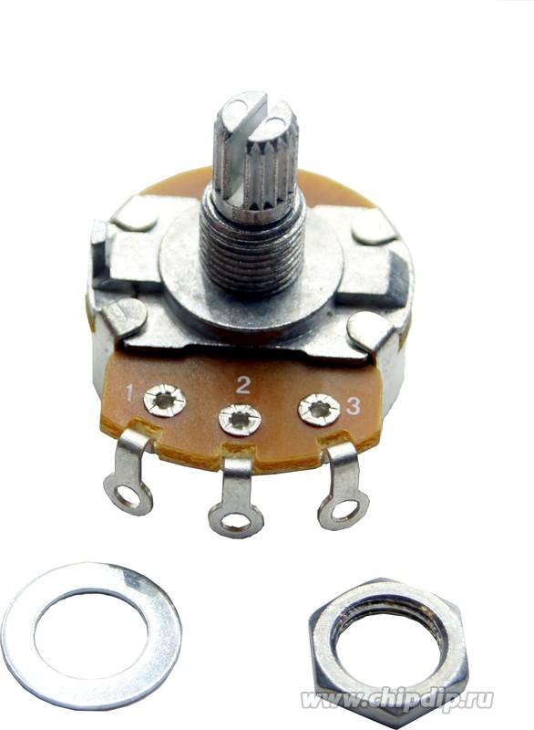R-24N1-A500K, L15KC, 500 кОм, Резистор переменный