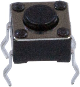 KAN0611-0431B (аналог L-KLS7-TS6601-4.3-180), кнопка тактовая 6х6 h=4.3мм (аналог 0643HIM TS-A1PS)