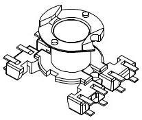 RM6-8P-J-3,8-B-1 (окисел на выводах), RM6 Каркас 1 сек. 8 выв. SMD