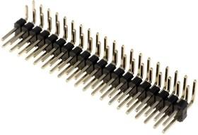PLD-40R (DS1022-2x20R), Вилка 2.54ммх2х20 угловая тип 8
