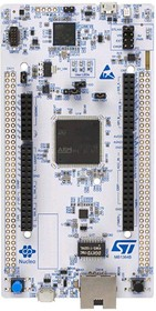 Фото 1/2 NUCLEO-H743ZI2, Отладочная плата на базе MCU STM32H743ZIT6U (ARM Cortex-M7), STLINK-V3E, Arduino, Ethernet