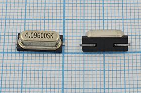 кварцевый резонатор 4.096МГц в корпусе HC49S,с нагрузкой 30пФ, 4096 \SMD49S4\30\\\\1Г (4.09600SK)