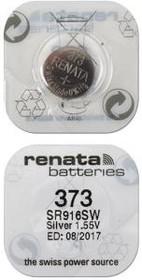 Фото 1/2 RENATA SR916SW 373 (0%Hg), Элемент питания