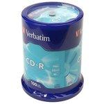 Verbatim 43411 CD-R 80 52x DL CB/100, Записываемый компакт-диск