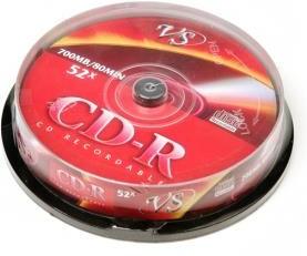 Фото 1/2 VS CD-R 80 52x CB/10, Записываемый компакт-диск
