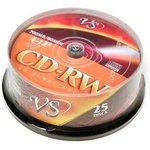 VS CD-RW 80 4-12x CB/25, Перезаписываемый компакт-диск
