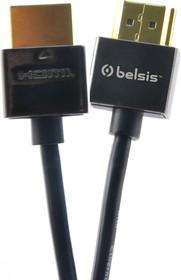 Фото 1/2 SM1815, Кабель HDMI вилка - HDMI вилка, супертонкий, High Speed W/E, 1м