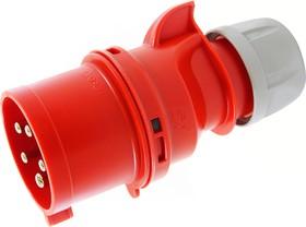 Вилка Twist на кабель 32А 400В 3Р+E+N с фазоинвертором