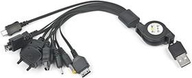 A-USBTO11, Адаптер-рулетка USB для зарядки мобильных телефонов, iPhone,iPad