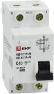 Фото 1/2 Дифференциальный автомат 1P+N 25А 30мА тип АС х-ка C эл. 4,5кА АД-12 EKF Basic