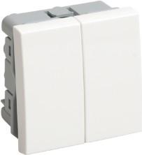 Выключатель двухклавишный на 2 модуля ВК1-22-00-П