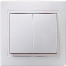 Фото 1/2 ВС10-2-0-КБ Выключатель 2кл 10А КВАРТА (белый)